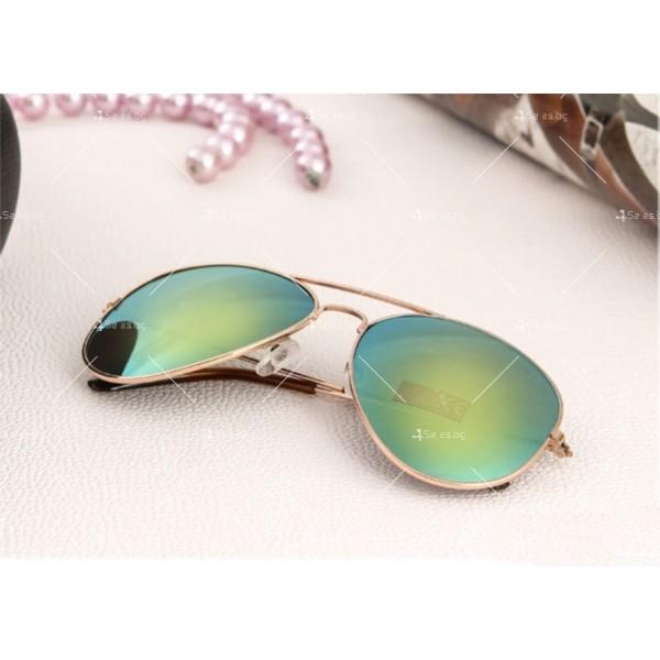 """Дамски очила тип """"Авиатор"""" с огледални стъкла в различни цветове YJ84 15"""