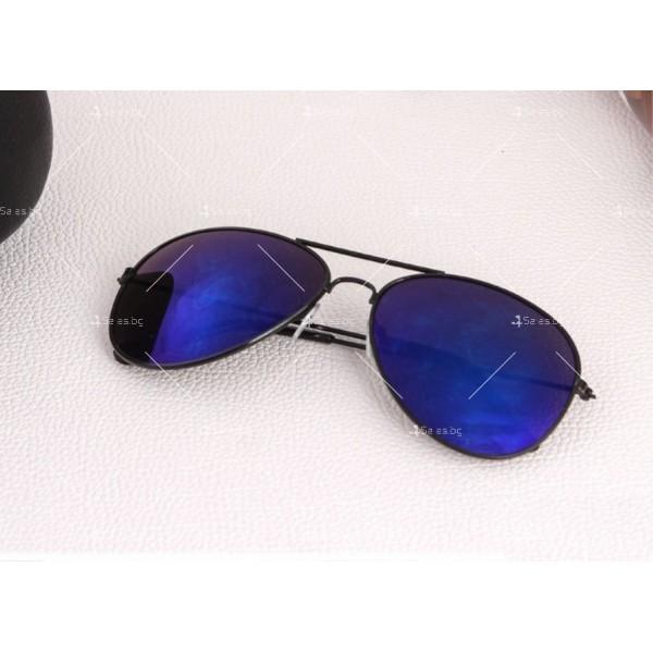 """Дамски очила тип """"Авиатор"""" с огледални стъкла в различни цветове YJ84 16"""
