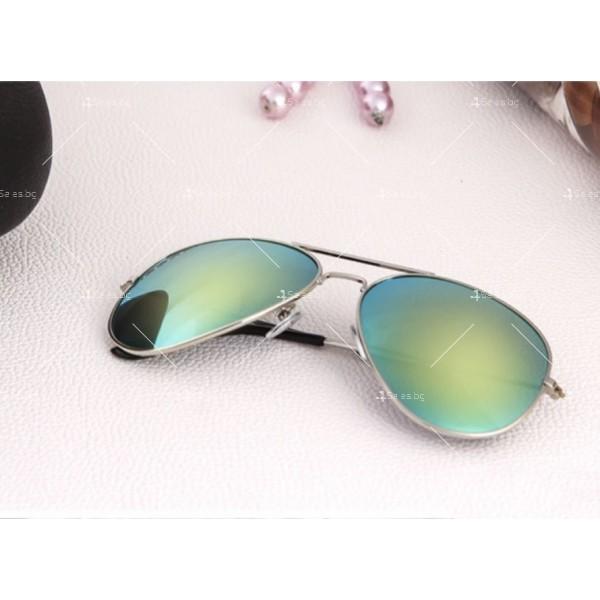 """Дамски очила тип """"Авиатор"""" с огледални стъкла в различни цветове YJ84 17"""
