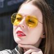 """Дамски очила тип """"Авиатор"""" с огледални стъкла в различни цветове YJ84 18"""