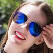 """Дамски очила тип """"Авиатор"""" с огледални стъкла в различни цветове YJ84 20"""