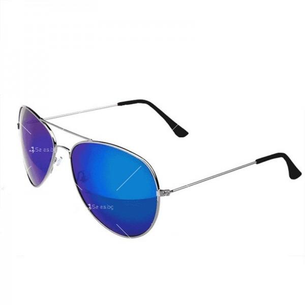 """Дамски очила тип """"Авиатор"""" с огледални стъкла в различни цветове YJ84 21"""