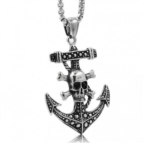 Висулка корабна котва и череп с кости NSD12