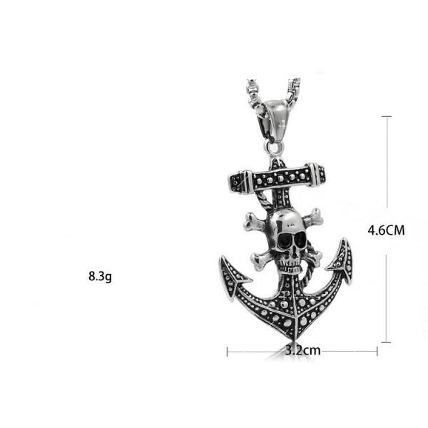 Висулка корабна котва и череп с кости NSD12 4