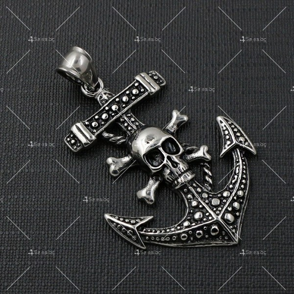 Висулка корабна котва и череп с кости NSD12 5