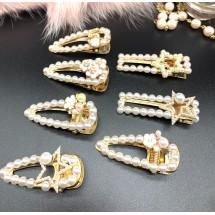 Атрактивна фиба за коса с перли и декорация - F65