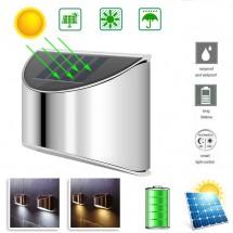 Соларна лампа за осветление на стена и стълби, 10W, 8 диода, фотоволтаичен панел