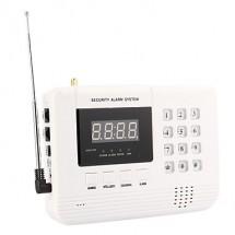Алармена система с 99 безжични зони PSTN ( за мобилен и стационарен телефон)