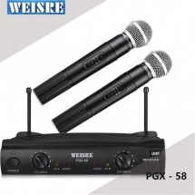 Комплект от 2 броя безжични микрофони с приемник WVNGR PGX 58 MF4