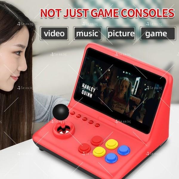 Ретро игра с 12-инчов цветен екран и 3D джойстик PSP4 5