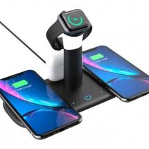 Безжично зарядно за мобилни устройства 3 в 1 + лампа TV882