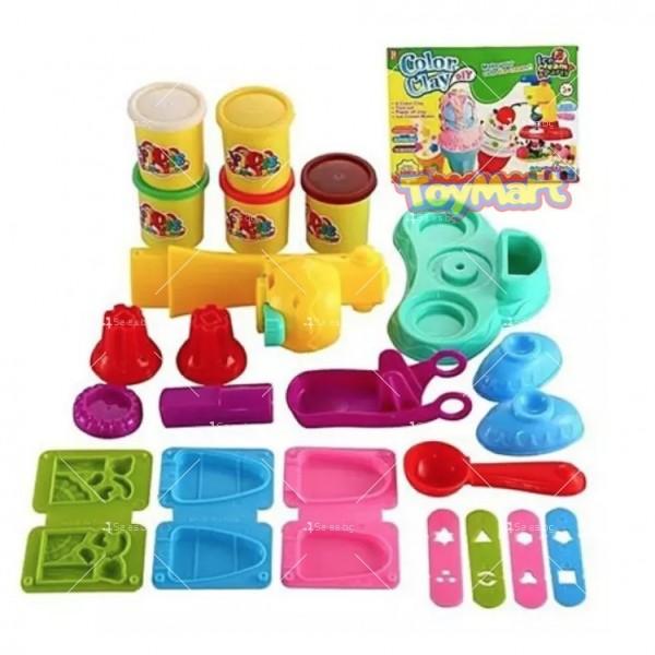 Детска машина за правене на сладолед + 6 броя нетоксична глина 3