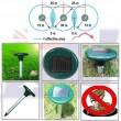 Електронен соларен уред срещу вредители в почвата TV1 2