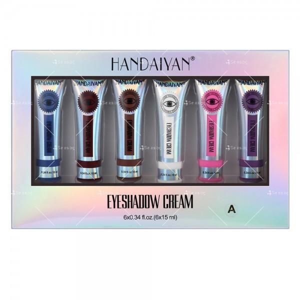 Комплект от 6 броя кремообразни сенки за очи Handaiyan HZS330 3