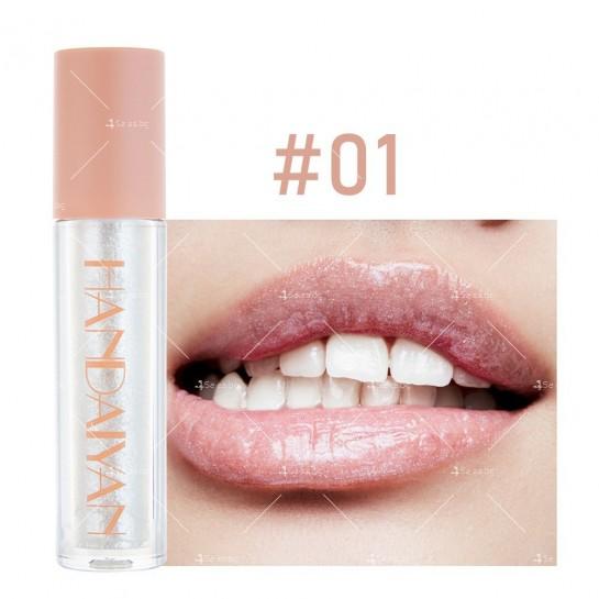 Гланц за устни с лек цвят и бляскави частици Handaiyan HZS331