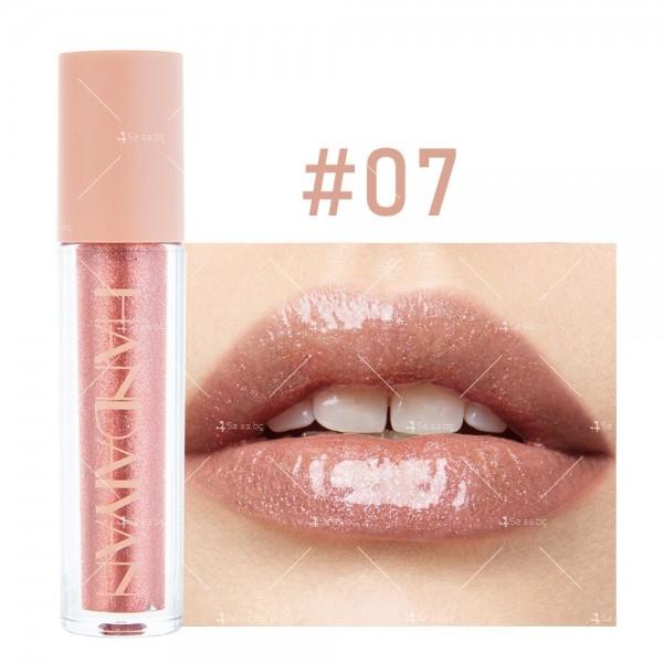 Гланц за устни с лек цвят и бляскави частици Handaiyan HZS331 7