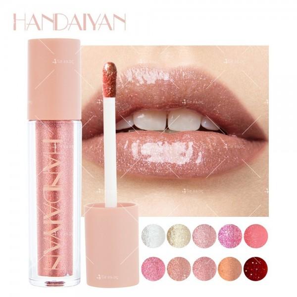 Гланц за устни с лек цвят и бляскави частици Handaiyan HZS331 11