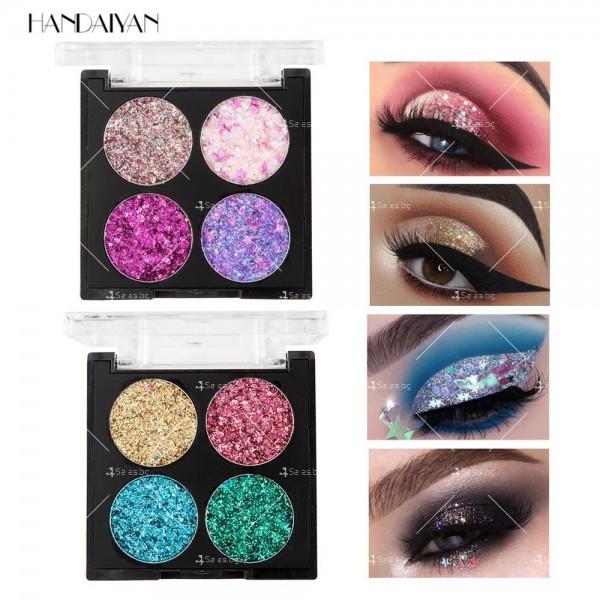 Водоустойчива диамантена палитра сенки за очи с 4 броя цвята Han Daiyan HZS335 5