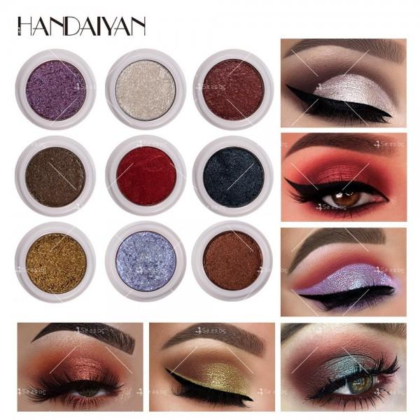 Кремообразни сенки за очи с металически блясък Han Daiyan HZS336 13
