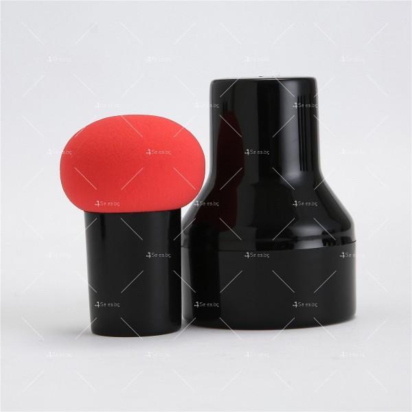 Кръгъл тампон за нанасяне на грим по лицето с дръжка HZS346 6