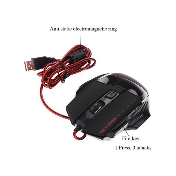 3200 DPI LED оптическа мишка за геймъри 7 бутона и светлини 6