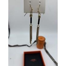 Колекция дамски обеци Hermes ръчна изработка с кожа и метал А166