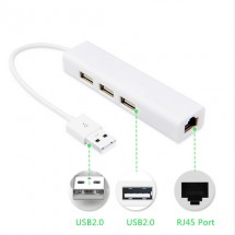 USB PORT HUB, RJ45 устройство 4 в 1,CA48