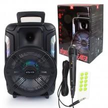 Безжична 8-инчова караоке колона с микрофон и дистанционно управление KTS-1175