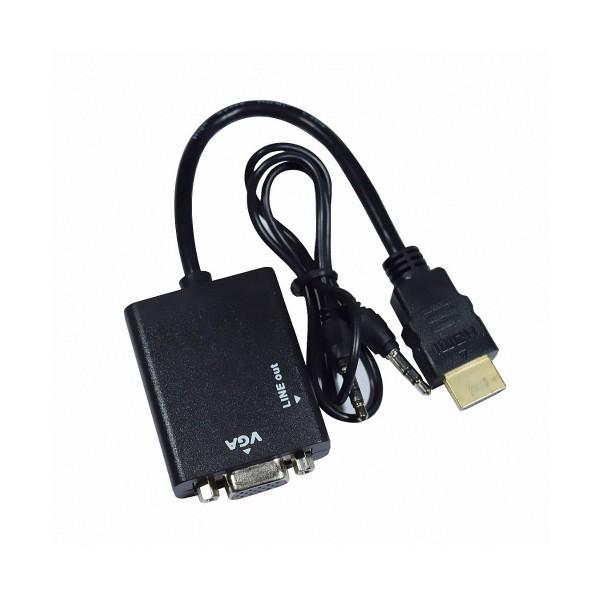 Висококачествен адаптер за конвертиране от HDMI към VGA Audio 3,5, CA83 2