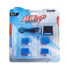 Батерии 3.7V 200mAh и зарядно за дрон DRON BAT+CHARG