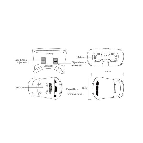 3D Очила за мобилни – VR CASE RK-A1, с бутони за управление и мишка 9