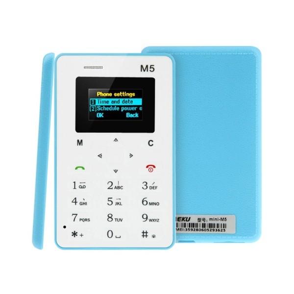 AEKU M5 ултра тънък мобилен телефон с цветен дисплей 3