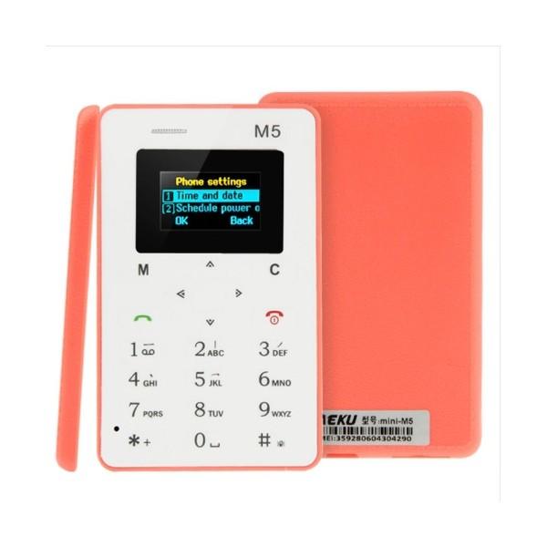 AEKU M5 ултра тънък мобилен телефон с цветен дисплей 4