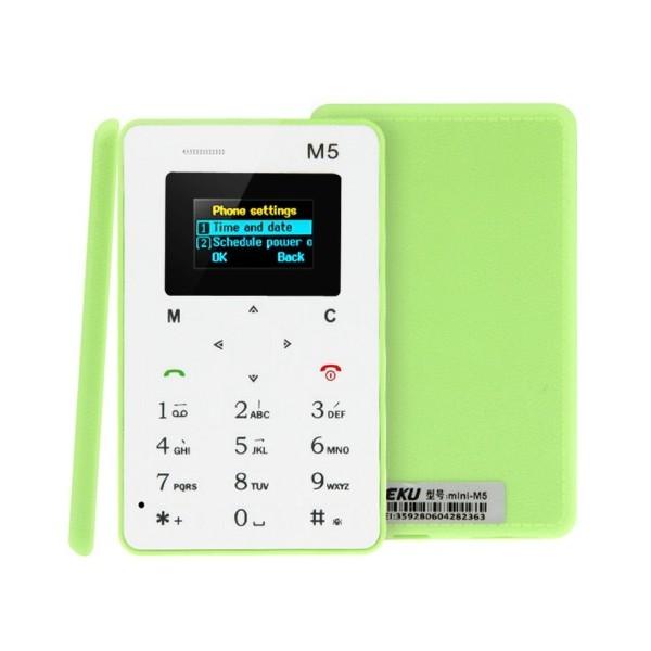 AEKU M5 ултра тънък мобилен телефон с цветен дисплей 5