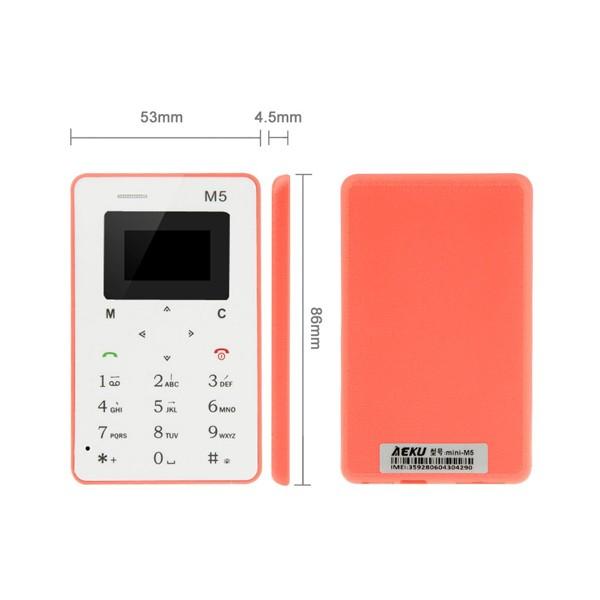 AEKU M5 ултра тънък мобилен телефон с цветен дисплей 6
