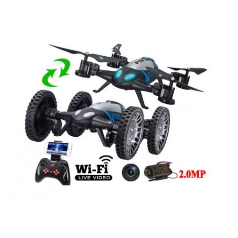 Дрон и кола с динстанционно управление Lishitoys L6055 2.4GB Wi-Fi 2.0mpx камера 4CH