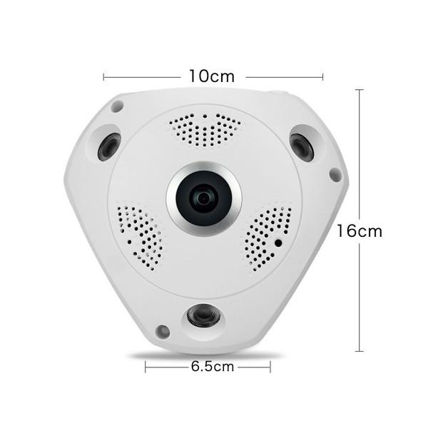 IP 3D камера CCTV с Wi Fi , 360 градуса ъгъл на заснемане и нощно виждане IP6 9