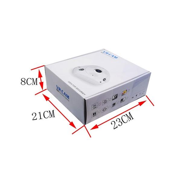 IP 3D камера CCTV с Wi Fi , 360 градуса ъгъл на заснемане и нощно виждане IP6 10