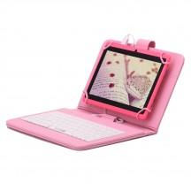 Розов таблет 7 инча + клавиатура