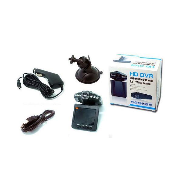 DVR H198 рекордер за автомобил Cycle recording функция ABS пластмаса -3Mpx AC12 14