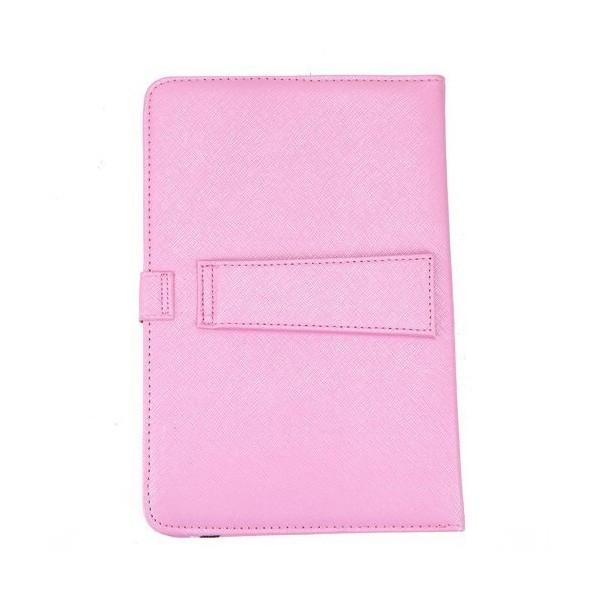 Розова клавиатура калъф за таблет 7 инча универсал 10