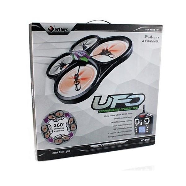 Квадрокоптер RC WL UFO Drone V33 Headless Cyclone Батерия Li-Polymer 3