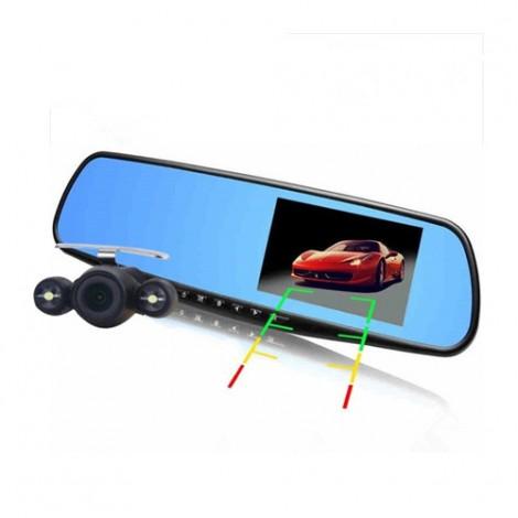 Видеорегистратор тип огледало за задно виждане с микрофон DVR JPG 1080 P -8Mpx