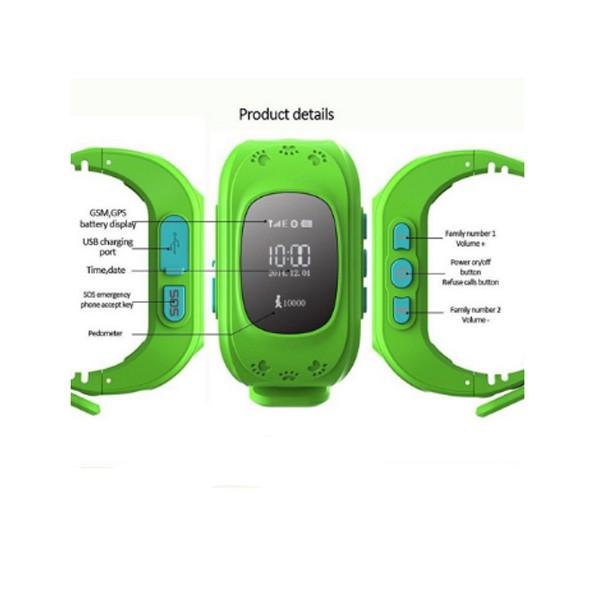 GPS часовник -телефон за деца - тракер за проследяване smart watch q50 14