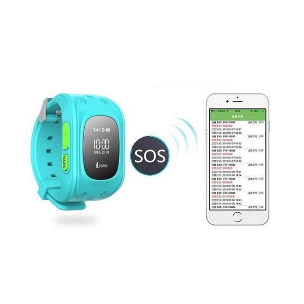 GPS часовник -телефон за деца - тракер за проследяване smart watch q50 15