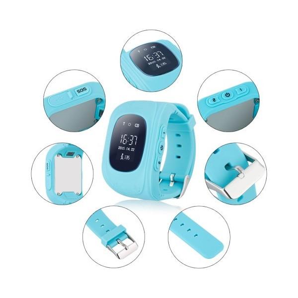 GPS часовник -телефон за деца - тракер за проследяване smart watch q50 17