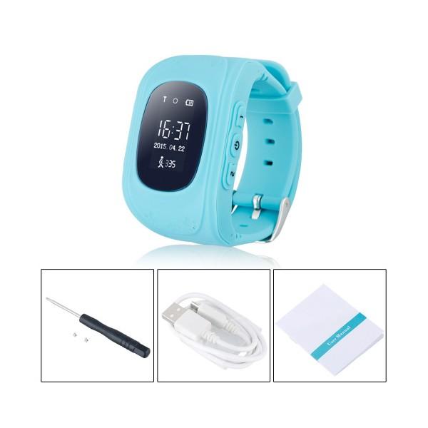GPS часовник -телефон за деца - тракер за проследяване smart watch q50 19