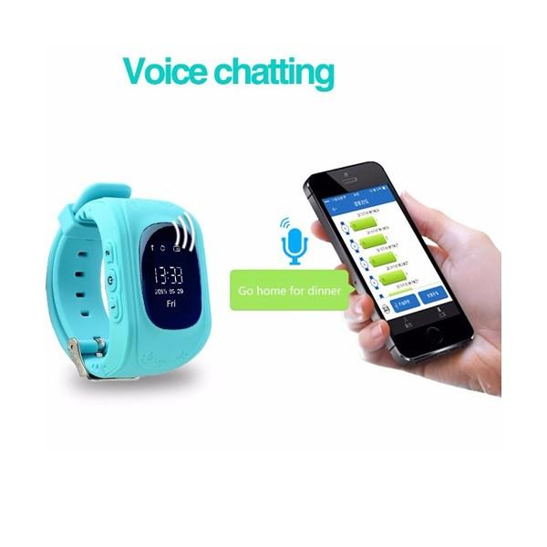 GPS часовник -телефон за деца - тракер за проследяване smart watch q50 21
