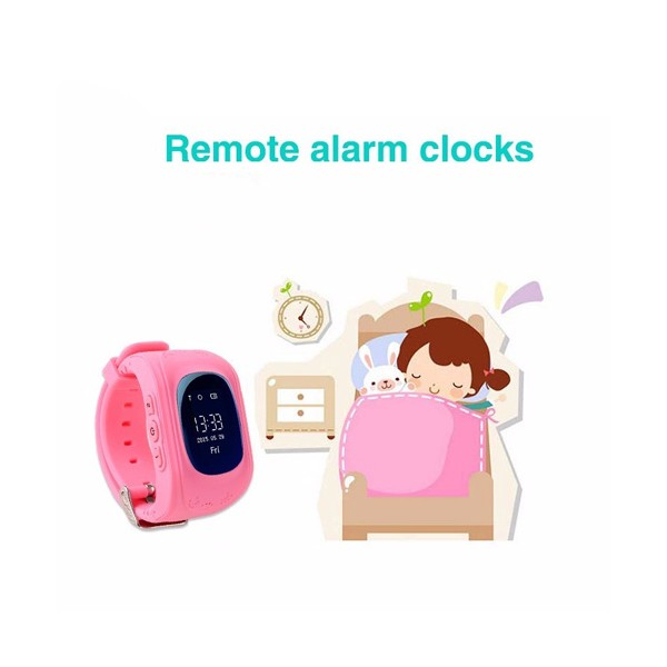 GPS часовник -телефон за деца - тракер за проследяване smart watch q50 23