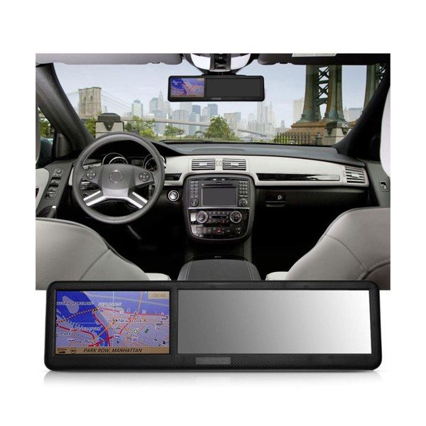 Огледало за обратно задно виждане с GPS навигация 4.3 инча, Bluetooth Noyokere 6